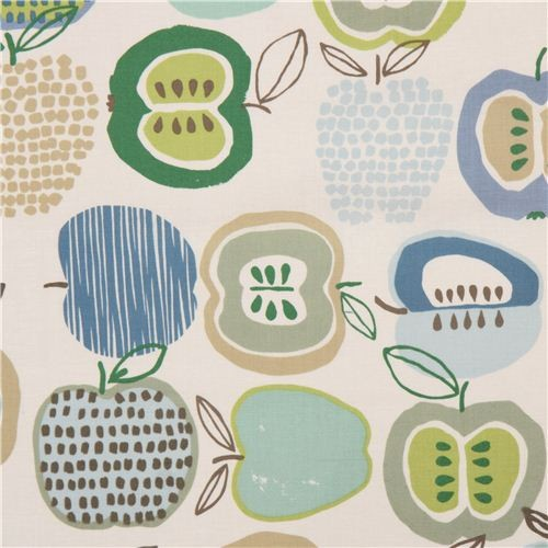 A. Henry, In the Kitchen, Apples blau-grün, Laminat