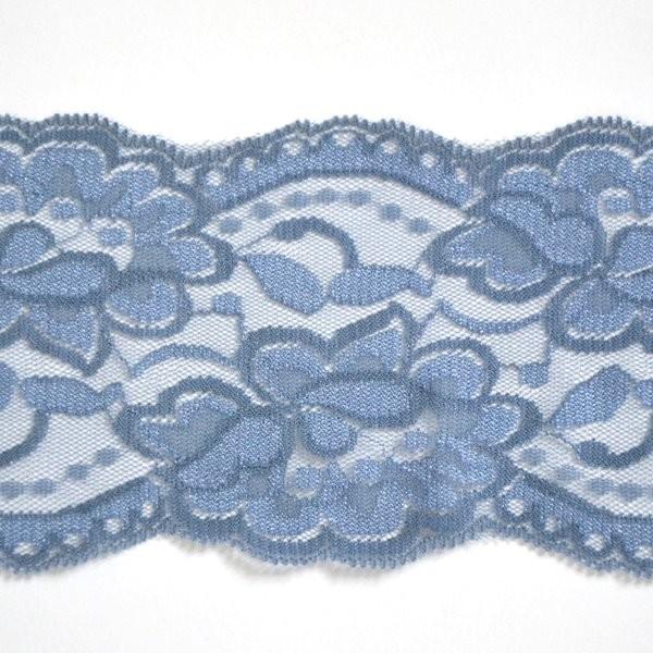 breite elastische Spitze, taubenblau