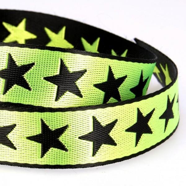 Gurtband, Sterne hellgrün, beidseitig
