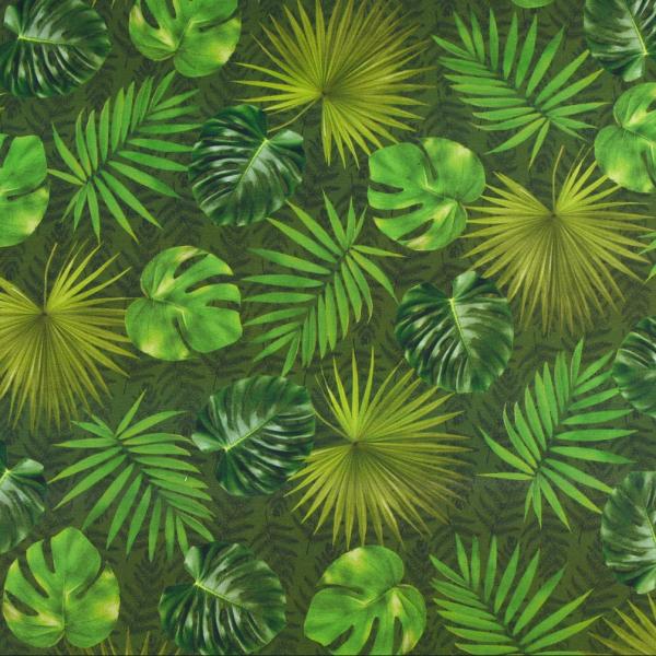 Outdoorstoff grüne Blätter