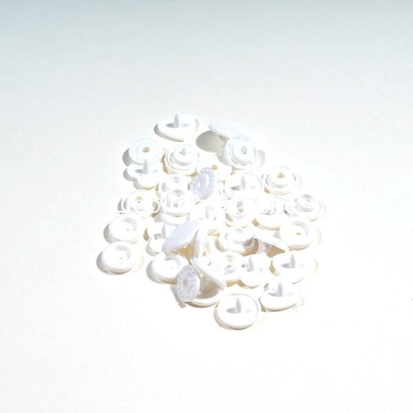 KAM Snaps HERZ, 10 Stück Packung, Weiß - 03