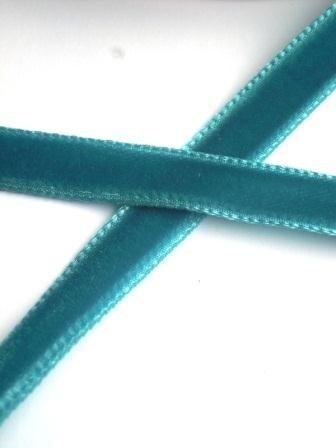 Samtband, 9 mm, jeansblau