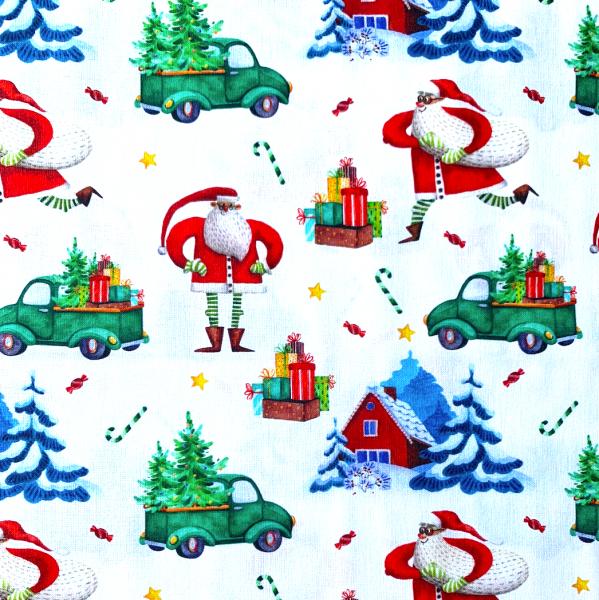 Xmas Weihnachtsmänner, Baumwollstoff