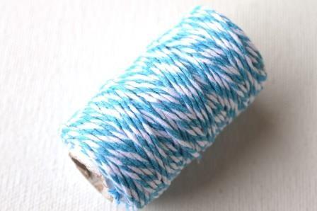 dünne Kordel, 1,5 mm, türkis-weiß *SALE*