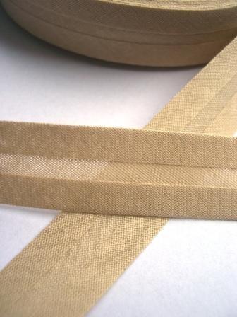 Package Schrägband, 20 mm, beige - 10 Meter
