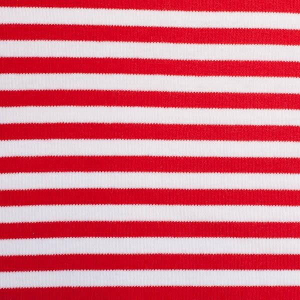 Streifenjersey breit rot-weiß
