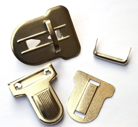 Steckverschluss, XL, silber