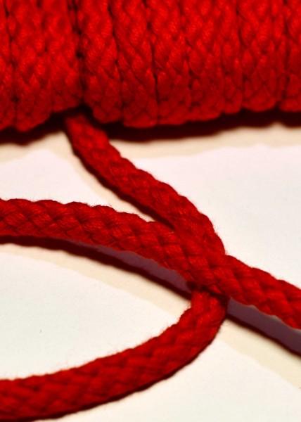 Flechtkordel, 6 mm, rot