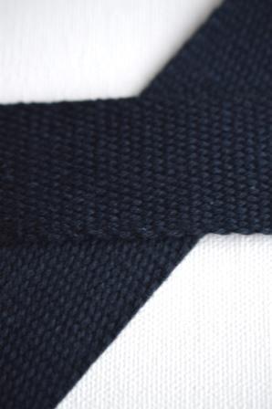 Baumwollgurtband, dunkelblau, 2,5 cm