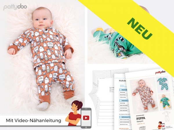 Pippa Baby-Set, pattydoo-Schnittmuster