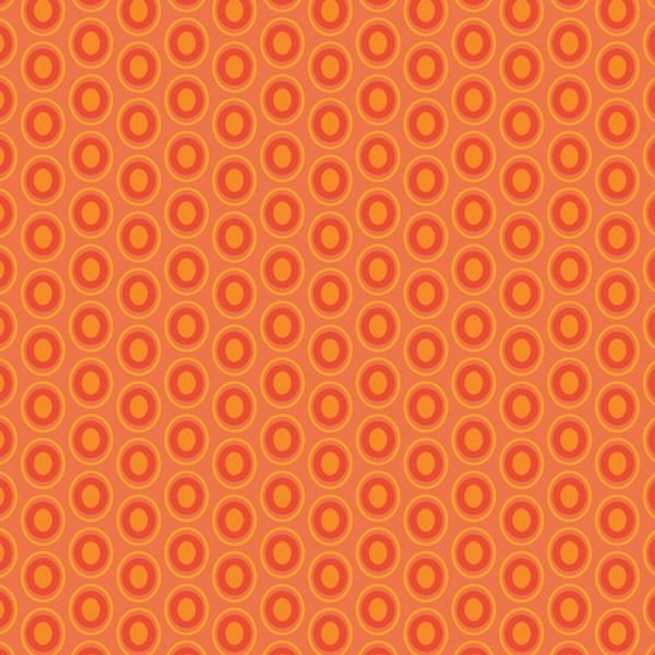Art Gallery Oval Elements Tangerine Tango, Webstoff