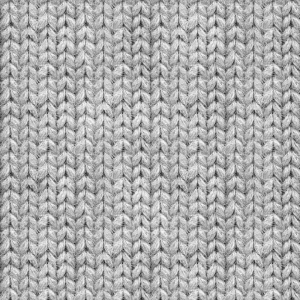 Digitaldruck Strickmuster hellgrau, Bio-Sweat