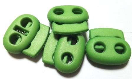 Kordelstopper, oval, grün
