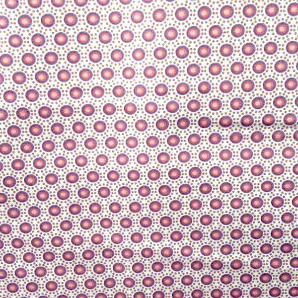Lena, Punkteblumen, rosa-lila, Webstoff