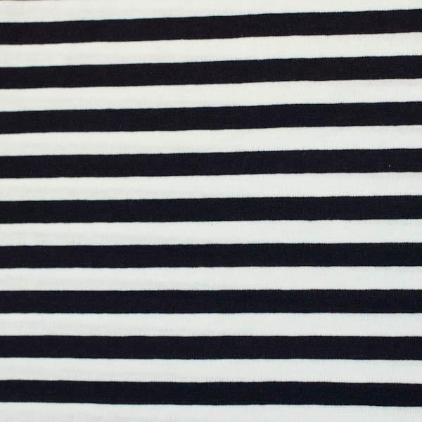 Streifenjersey breit, dunkelblau-weiß