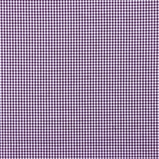 Vichykaro, klein, aubergine-weiß kariert, waschbar bei 60°