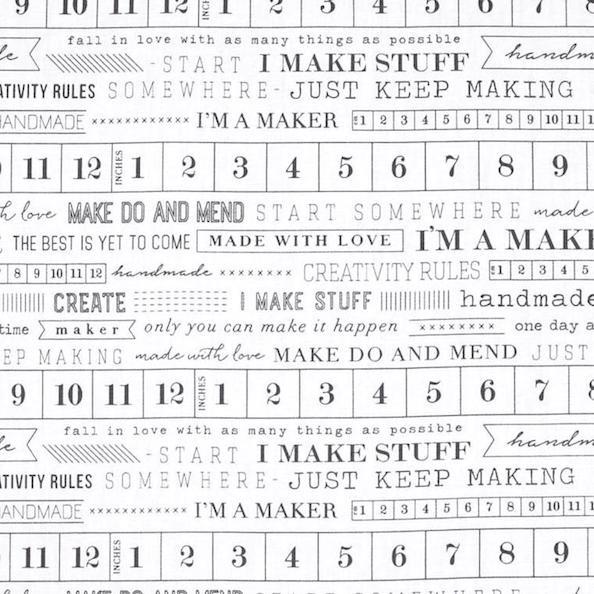 Art Gallery Art Gallery, I'm a Maker, weiß, Webstoff