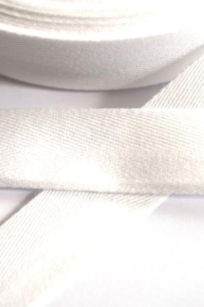 Baumwollköperband, 20 mm, weiß