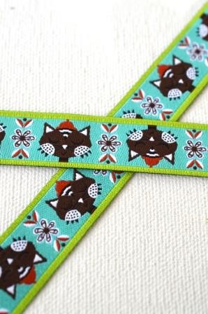 Cat love, teal, Webband