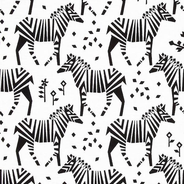 Michael Miller Midnight Train, Zebras, Webstoff