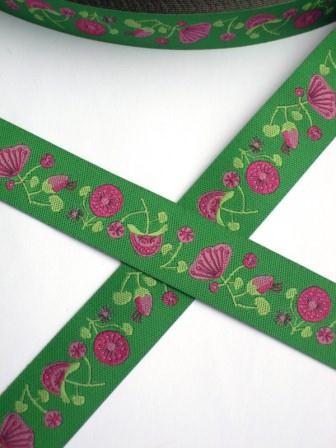 Blossom, grün, Webband