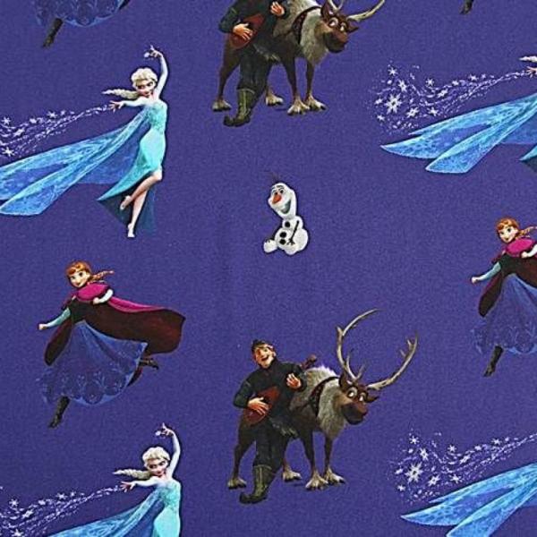 Digitaldruck Frozen Eiskönigin, dunkelblau, Baumwollstoff