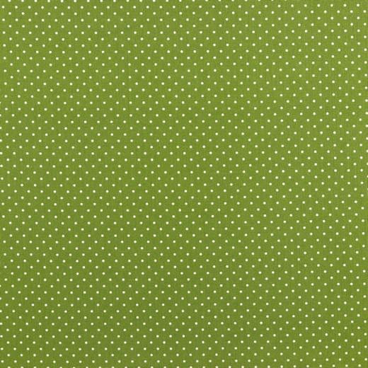 Lili Punkte klein waldgrün, Webstoff, waschbar bei 60°