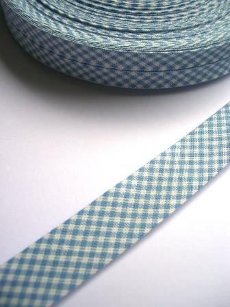 Westfalen Schrägband, karo hellblau-weiß