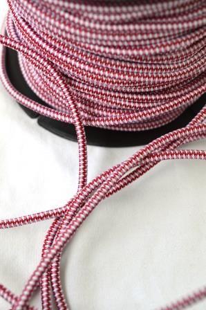 Gummischnur, rot-weiß-rosa