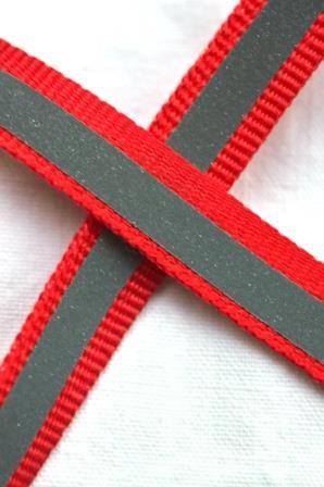 reflektierendes Ripsband, rot, schmal