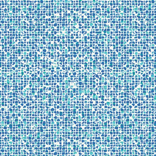 Art Gallery, Plash Mosail azure, Baumwollstoff