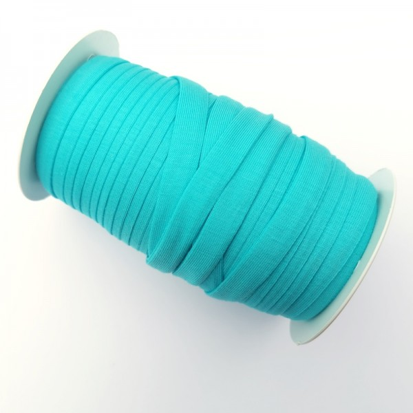 Baumwolljersey-Schrägband mit Elasthan, mint