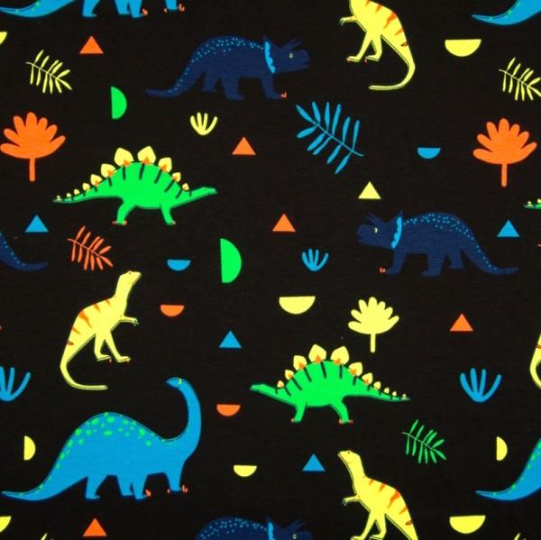 Dinos neon auf schwarz, Jersey