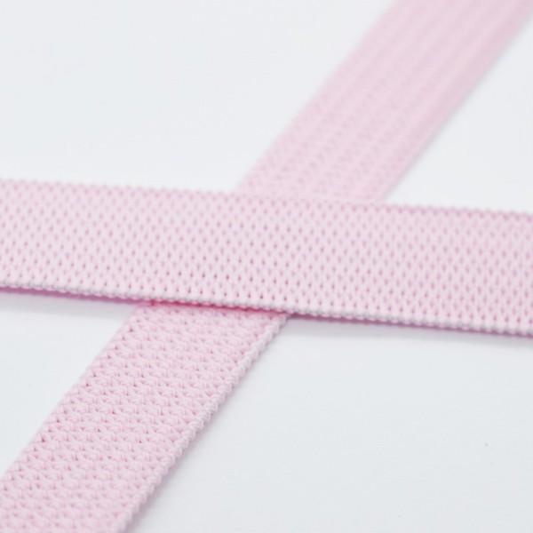 Flachgummi, rosa, 10 mm