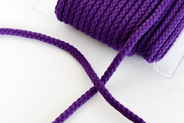 Flechtkordel, 8 mm, dunkles violett