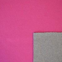 Top-Doubleface Strickstoff pink/grau