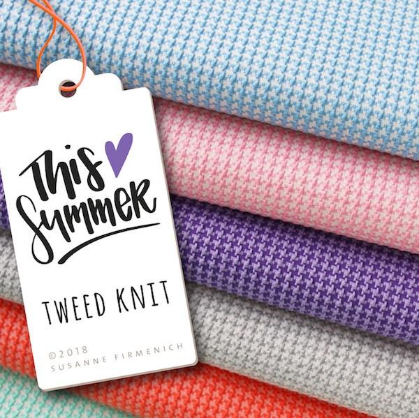Bio-Strickstoff This Summer Tweed Knit hellblau