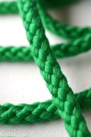 Flechtkordel, 8 mm, grün