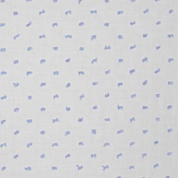 Top-Batist mit 3D Tupfen, hellblau auf weiß