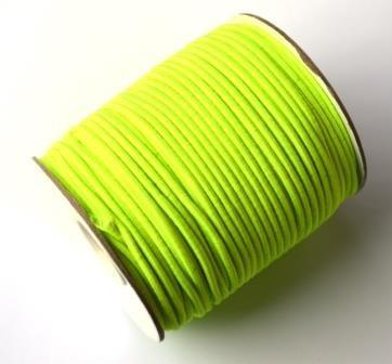 Gummischnur, 2 mm, neongelb