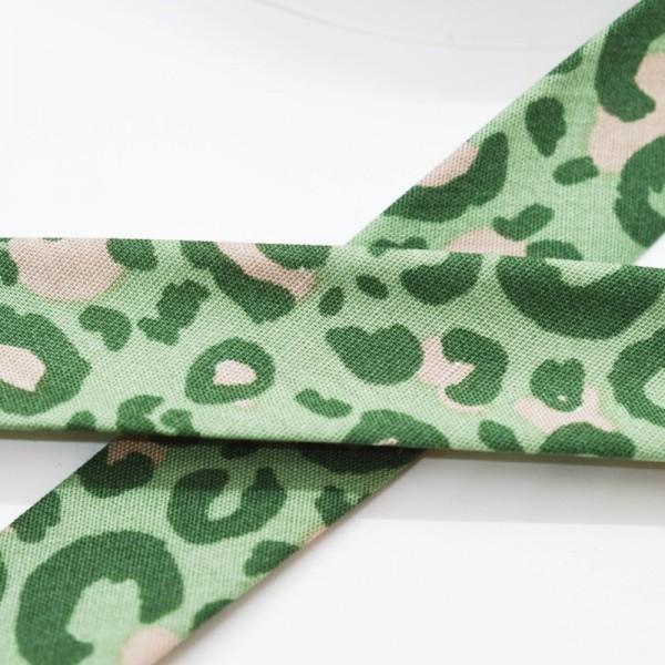 Schrägband, Animal print, grün