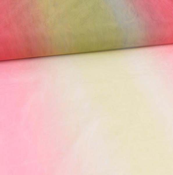 Regenbogentüll, No.3, rot/hellgrün/gelb