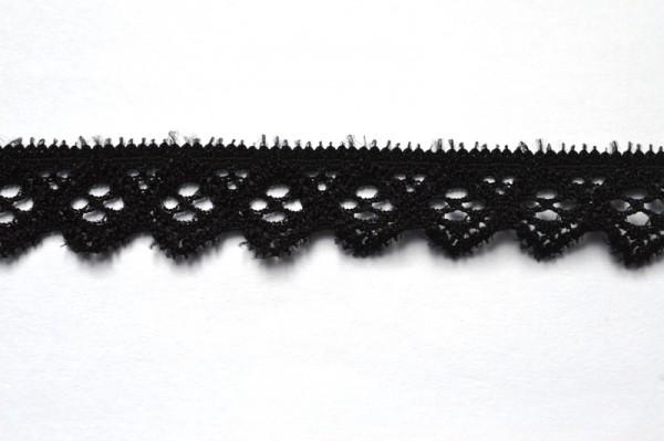 elastische Spitze mit Zacken, schwarz