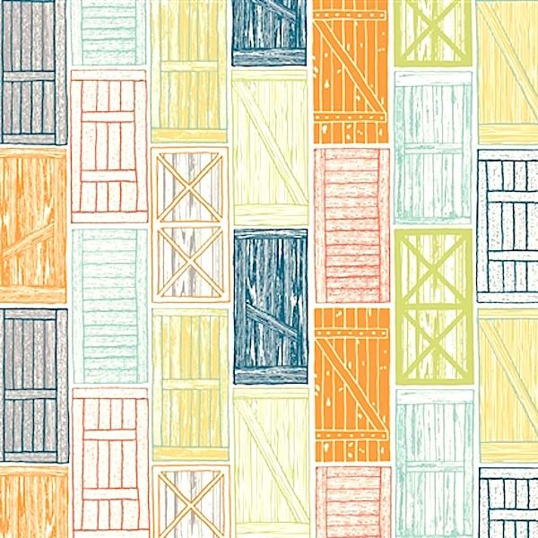 Birch, Barn Doors multi, Bio-Webstoff, *SALE*