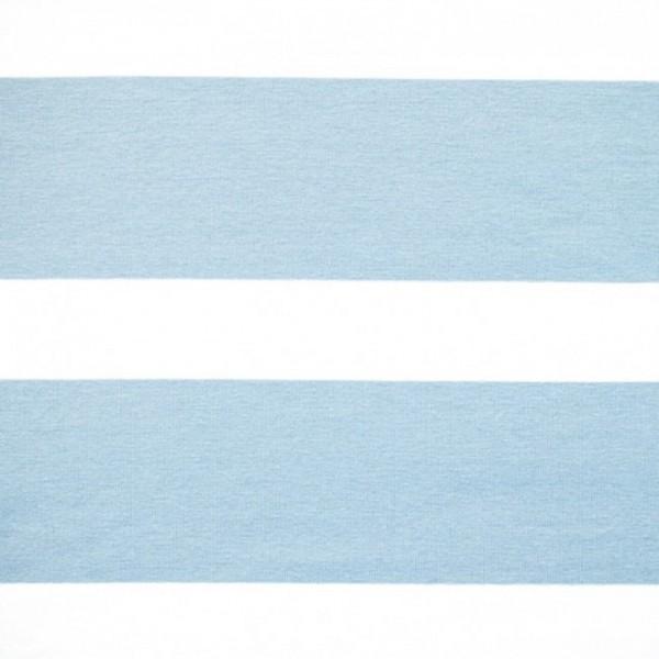 Bretone Streifen breit hellblau-weiß, Jersey