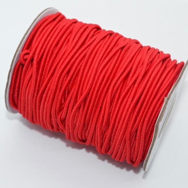 Gummischnur, 2 mm, rot