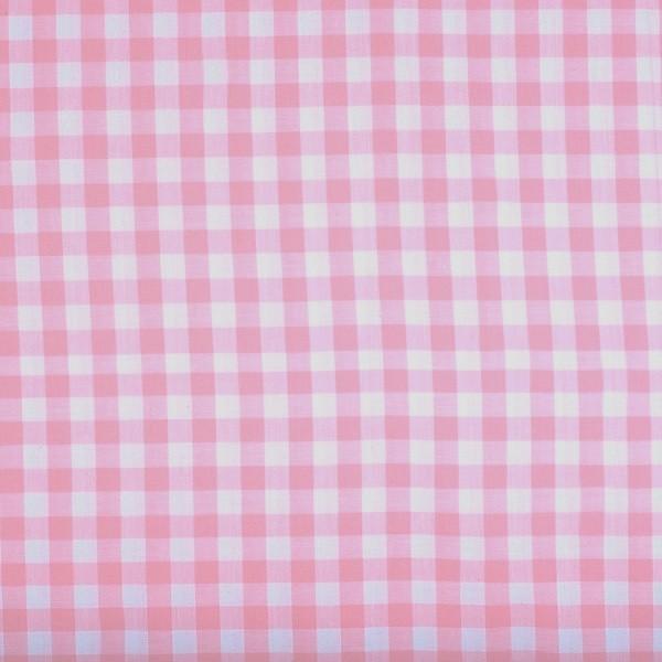 Vichykaro, groß, rosa-weiß kariert