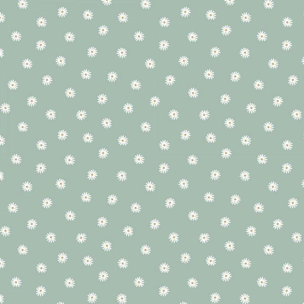 Digitaldruck, Kleine Gänseblümchen mint, Bio-Jersey