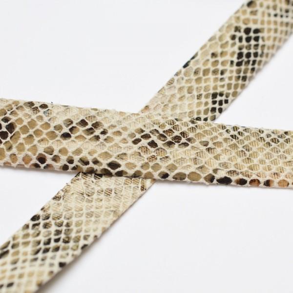 Kunstlederband, Schlangenoptik, sand