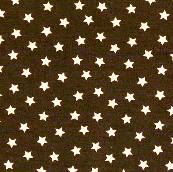 Tom, kleine Sterne dunkelbraun, Jersey